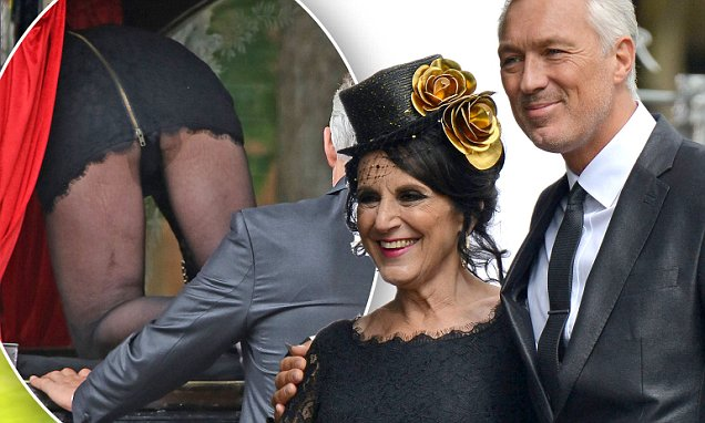 Birds Of A Feather's Lesley Joseph gives Martin Kemp an eyeful at funeral scene