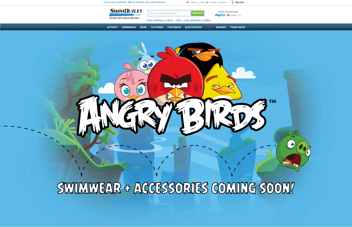 Angry Birds Line Of Aquatics Products to Launch at SwimOutlet.com