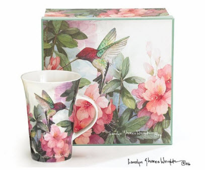 Porcelain Hummingbird Mugs