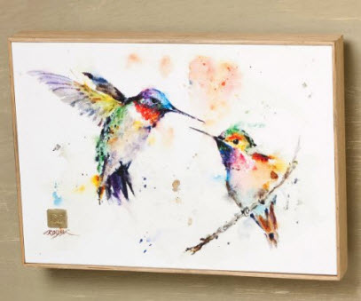 The Lovebirds Hummingbird Wall Art