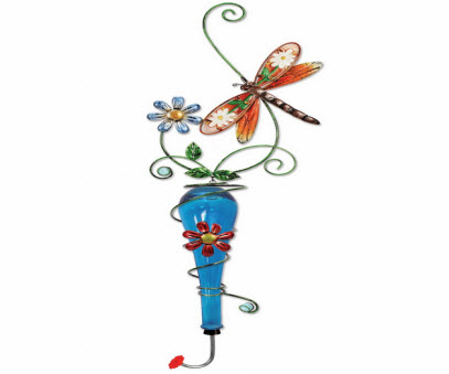 Unique Colored Glass Hummingbird Feeder