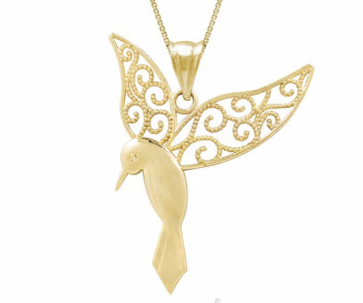 Gold Hummingbird Necklace