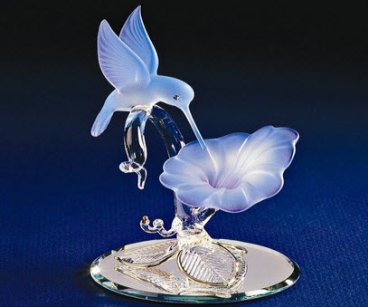 Hummingbird Glass Figurine