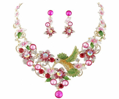 Hummingbird Jewelry Set