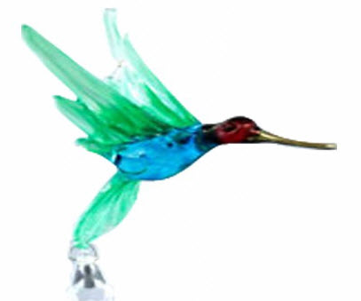 Hummingbird Crystal Bead Figurines