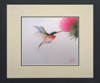 Red Necked Hummingbird Artwork