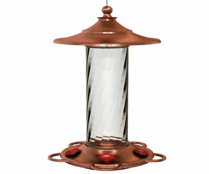 More Birds Glass Copper Feeding Device