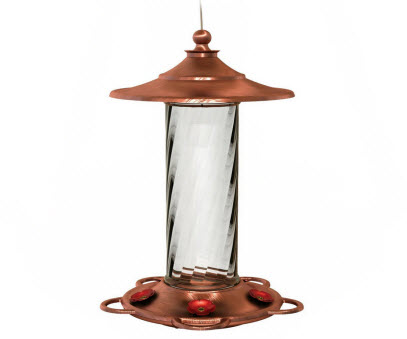 More Birds Copper Glass Hummingbird Feeder