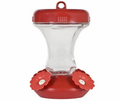 8 Ounce Glass Hummingbird Feeder