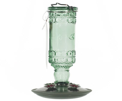 Perky Pet Green Antique Glass Hummingbird Feeder