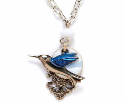 plus forest necklaces necklace gifts silver hummingbird hummingbirds
