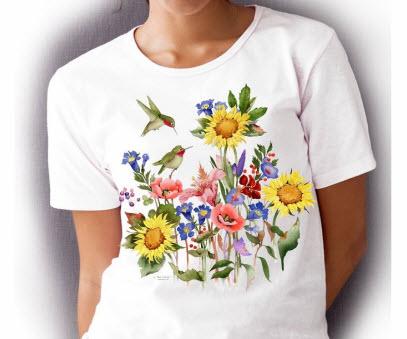 Spring Hummingbird Style T Shirt