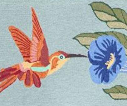 Hummingbird Sky Rug