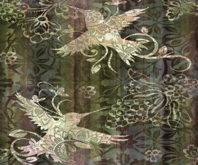 Victorian Hummingbird Painting