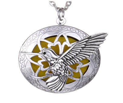 Hummingbird Locket Necklace