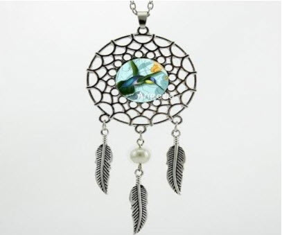 Hummingbird Dream Catcher Necklace