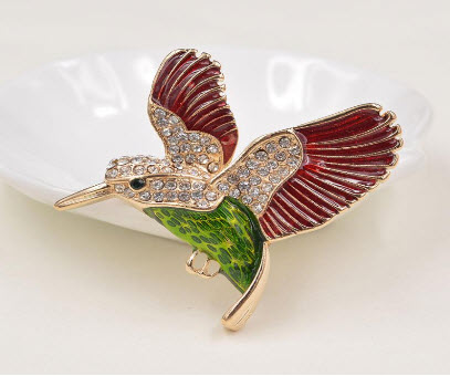 Hummingbird Multicolor Brooch