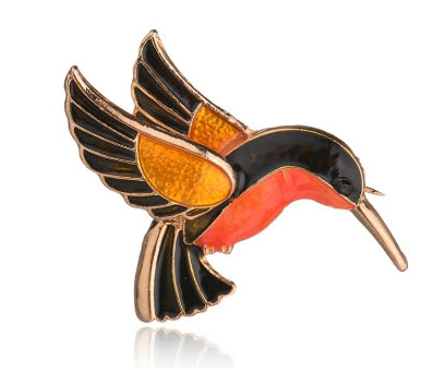 Contemporary Hummingbird Pin