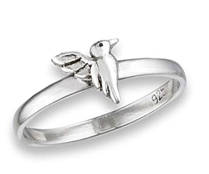 High Polish Hummingbird Ring