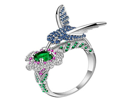 Jeweled Hummingbird Ring