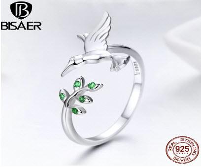 Sterling Silver Hummingbird Ring
