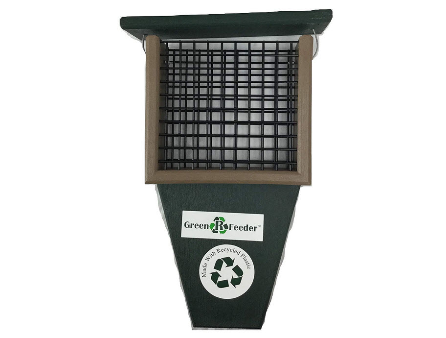 Rubicon Hunter Green Suet Feeder With Tail Prop
